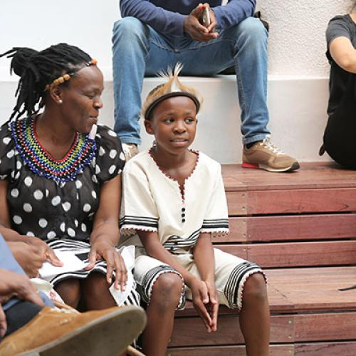 Hosted in collaboration with the Afrofest, and as part of the in_herit FESTIVAL 2019, a poetry performance and story-telling session happened at the Iziko South African Museum. Photograph: Nigel Pamplin © Iziko Museums of South Africa.